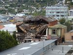 Digital Photograph: Earthquake Damage to the Norton Buildings on Oxford Street, Lyttelton