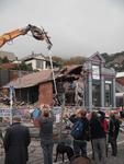 Digital Photograph:  Demolition of Coastal Living, London Street, Lyttelton
