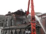 Digital Photograph: Demolition of the former Library, Council Chambers and Magistrates' Court, corner of Oxford Street and Sumner Road, Lyttelton