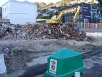 Digital Photograph: Demolition of Former Canterbury Hotel, corner of Norwich Quay and Oxford Street, Lyttelton