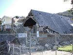 Digital Photograph:  Earthquake damage to  St John's Church, Winchester Street, Lyttelton