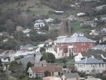 Digital Photograph: Former Convent of Our Lady of Mercy, Exeter Street, and St Joseph's Church, Winchester Street, Lyttelton