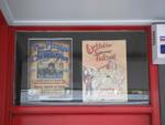 Digital Photograph: Posters in the Window of Leslie's Bookshop, London Street, Lyttelton