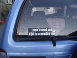 Digital Photograph: Sticker on Car Windscreen