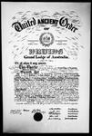 Film negative: Druids Friendly Society Australia, charter