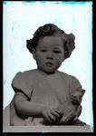 Film negative: Mr McAuliffe, small girl