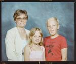Negative: Mrs Braggins and Two Children