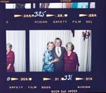 Film negative: Mr Langdon, wedding party of three