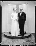 Film negative: Miss Bernadette Noldus, with her father, Peter Noldus.