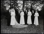 Film negative: Purius and Horgan wedding, group of eight