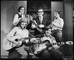 Film negative: Beaumont family, group of five musicians