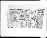 Film negative: Mr L Blanchard, copy of newspaper cartoon