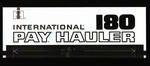 "Film positive: International Harvester Company: logo ""International 180 pay hauler"""
