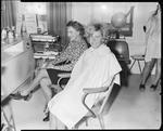 Film negative: Nadia Salon, hairdressing models