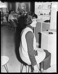 Film negative: Nadia Salon, hairdressing model