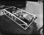 Film negative: International Harvester Company: test engine at show