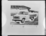 Film negative: International Harvester Company: c-line pick-up truck