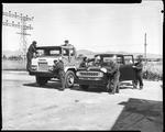 Film negative: International Harvester Company: cleaning trucks