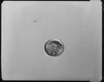 Film negative: Australian 1954 sixpence