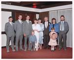 Negative: Meherne-Sadler Bride, Groom, and Guests