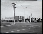 Film negative: International Harvester Company: building with machines outside