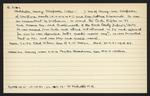 Macdonald Dictionary Record: Harry Stacpoole Batchelor