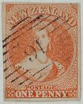 Stamp: New Zealand One Penny