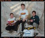 Negative: Three Boys Hornby Model Car Club