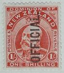 Stamp: New Zealand One Shilling