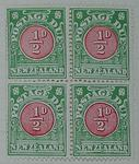 Stamps: New Zealand Half Penny Postage Due