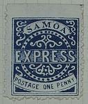 Stamp: Samoan One Penny