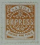 Stamp: Samoan Nine Pence