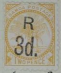 Stamp: Samoan Three Pence
