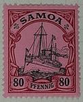 Stamp: Samoan Eighty Pfennig