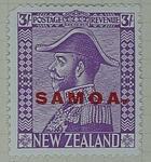 Stamp: New Zealand - Samoa Three Shillings