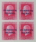 Stamps: New Zealand - Penrhyn Island Six Pence