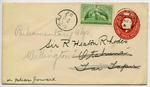 Envelope: New Zealand Three Half Pence and Half Pence Stamps Attached