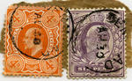 Stamps: Four Pence and Six Pence