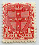 Stamp: New South Wales One Penny