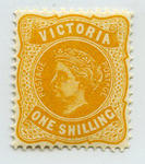 Stamp: Victoria One Shilling