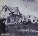 Photograph: Standard Office, Oxford Terrace West, Christchurch 1860
