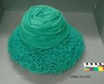 Hat: Green Ruffles