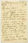 Letter: Alfred Charles Barker to Matthias Barker, 1 February 1861