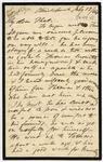 Letter: Alfred Charles Barker to Matthias Barker, 12 July 1864