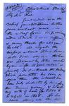 Letter: Alfred Charles Barker to Matthias Barker, 14 March 1865