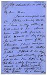 Letter: Alfred Charles Barker to Matthias Barker, 15 November 1865