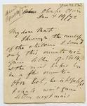 Letter: Alfred Charles Barker to Matthias Barker, 19 January 1872