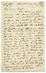 Letter: Alfred Charles Barker to Matthias Barker, 29 August 1872