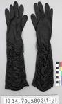 Gloves: Black Silk