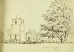 Sketch: Stoneleigh Church, Warwickshire, 20 July 1850